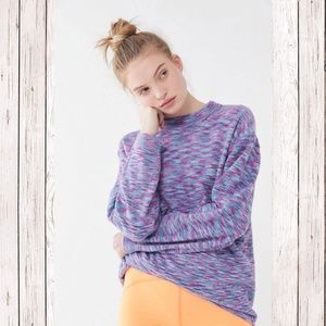 Space Dye Oversized Crew Neck Sweater